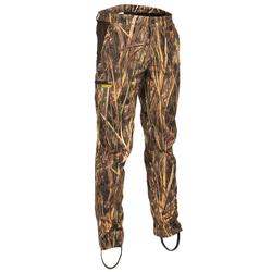 Pantalón de caza ligero 500 camuflaje marismas