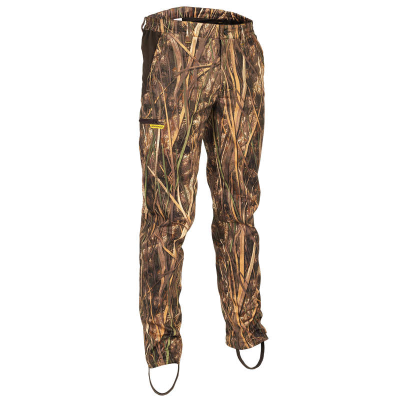 CAMOUFLAGE REEDS CLOTHING Shooting and Hunting - 500 light camouflaged trousers SOLOGNAC - Hunting Types