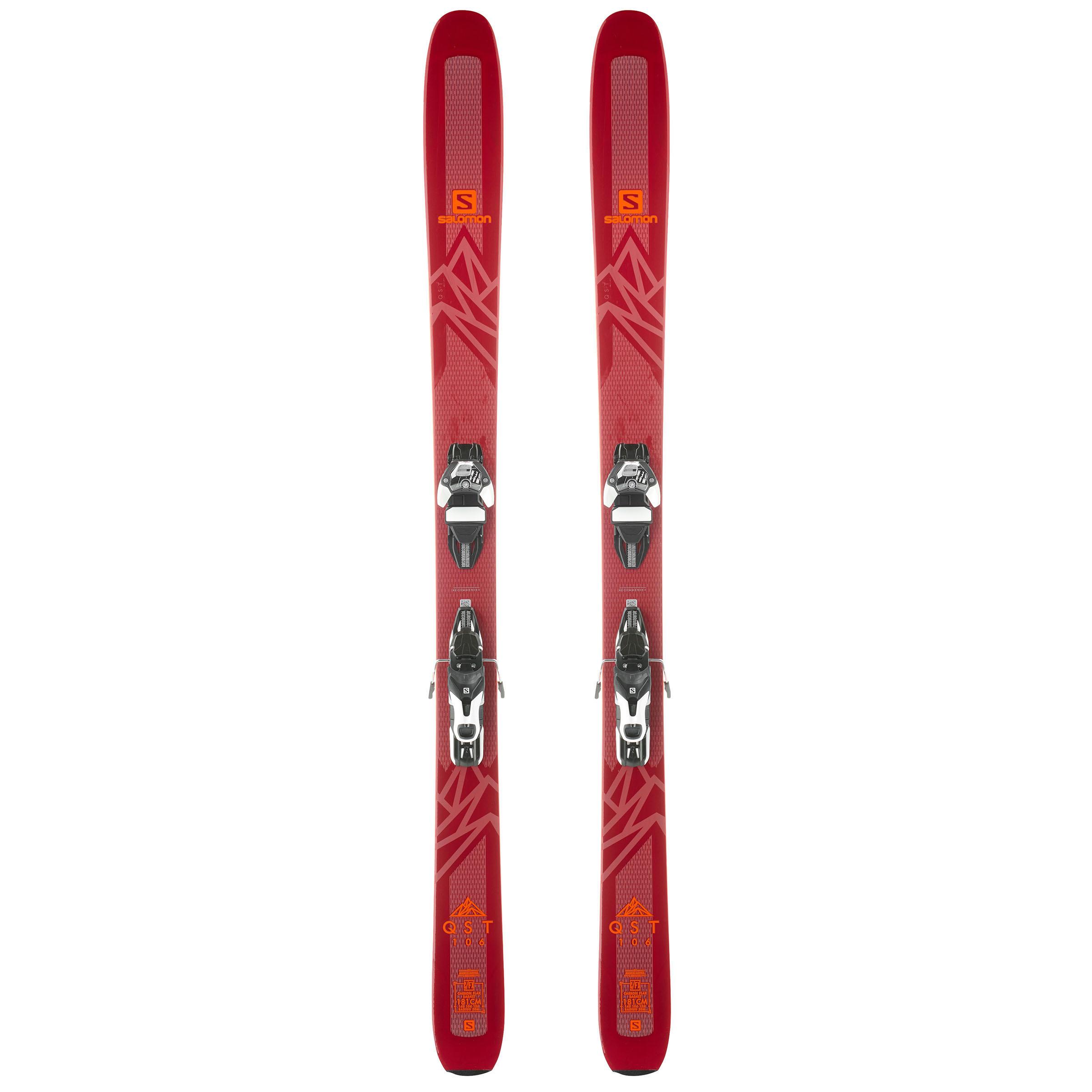 Damen,Herren Ski-Set Freeride QST 106 Warden 11 bordeaux   00889645865980