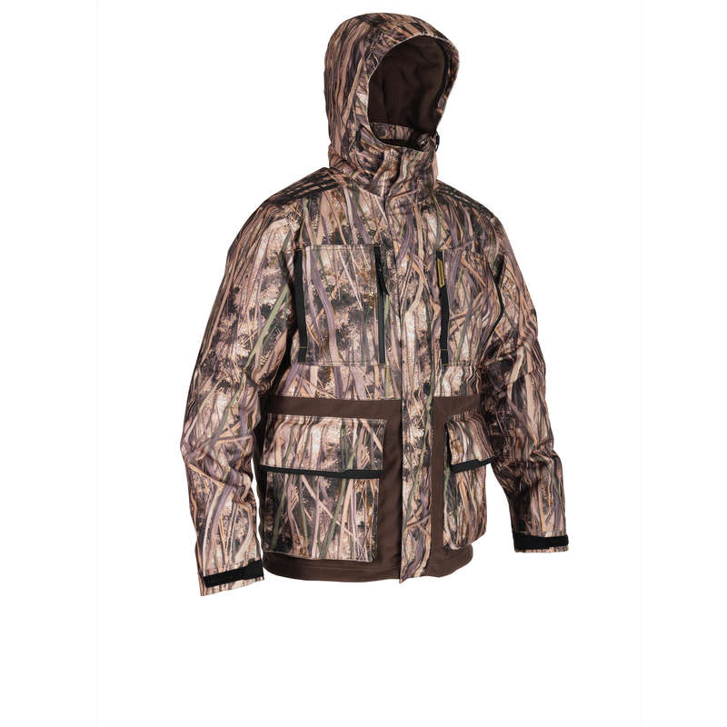 CAMOUFLAGE REEDS CLOTHING Shooting and Hunting - 500 warm jacket wetlands camo SOLOGNAC - Hunting Types