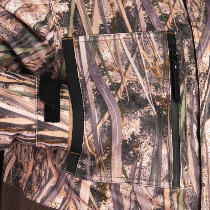 Veste chasse chaude et imperméable 500 camouflage marais