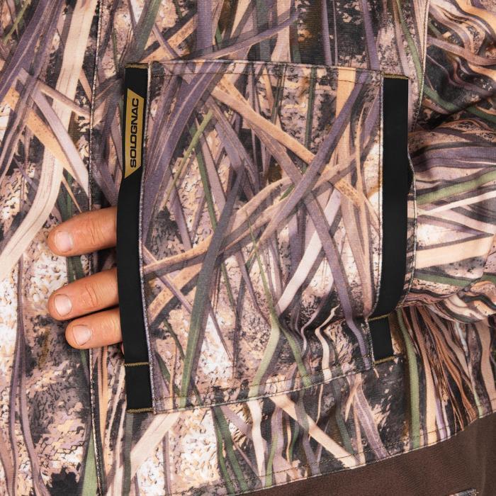 Jagd-Regenjacke warm 500 Camouflage Schilf