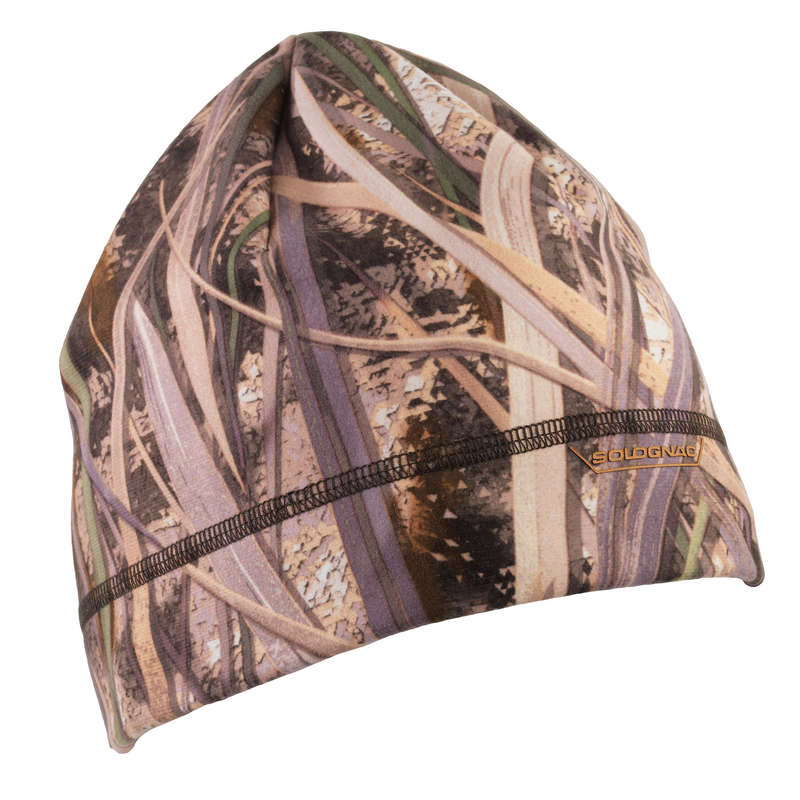 CAMOUFLAGE REEDS CLOTHING Shooting and Hunting - Hat 100 wetlands camo SOLOGNAC - Hunting and Shooting Clothing