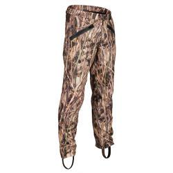 Pantalon chasse imperméable 500 camouflage marais