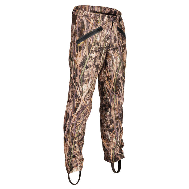 CAMOUFLAGE REEDS CLOTHING Shooting and Hunting - 500 trousers - wetlands camo SOLOGNAC - Hunting Types