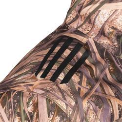 Chaqueta Caza Solognac Wf 500 Impermeable Ligera Transpirable Camuflaje Marismas