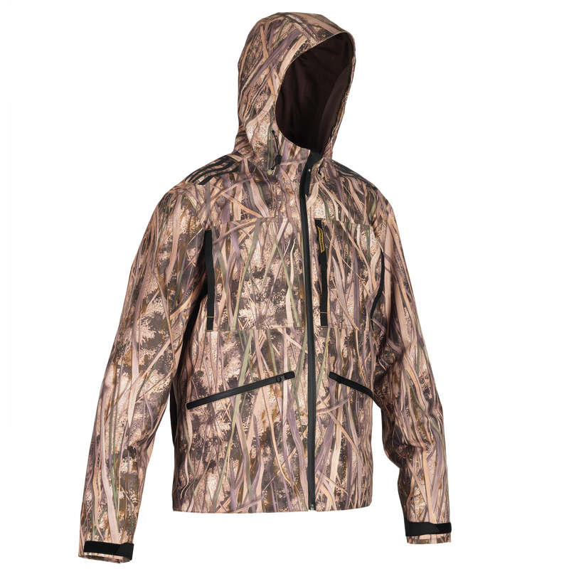 CAMOUFLAGE REEDS CLOTHING Shooting and Hunting - 500 waterproof wetlands jacket SOLOGNAC - Hunting and Shooting Clothing