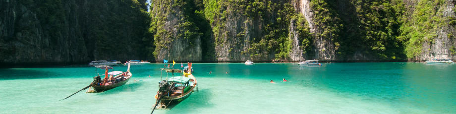 As ilhas Koh Phi Phi na Tailândia