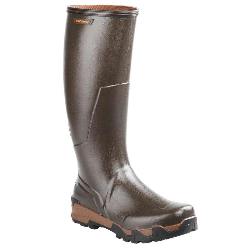 OBUV NA LOV Myslivost a lovectví - HOLÍNKY RENFORT 900 HNĚDÉ SOLOGNAC - Myslivecká obuv a ponožky