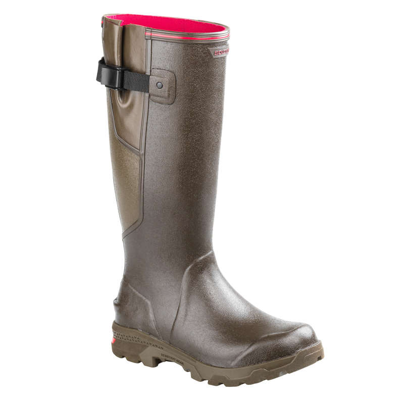 WELLIES Shooting and Hunting - WOMEN'S 520 WELLIES - BROWN SOLOGNAC - Shooting and Hunting