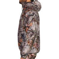 Veste chasse Silencieuse Imperméable 500 CAMOUFLAGE FORET