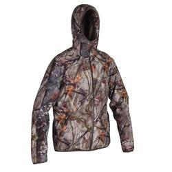 輕量防水靜音狩獵外套500-棕色迷彩