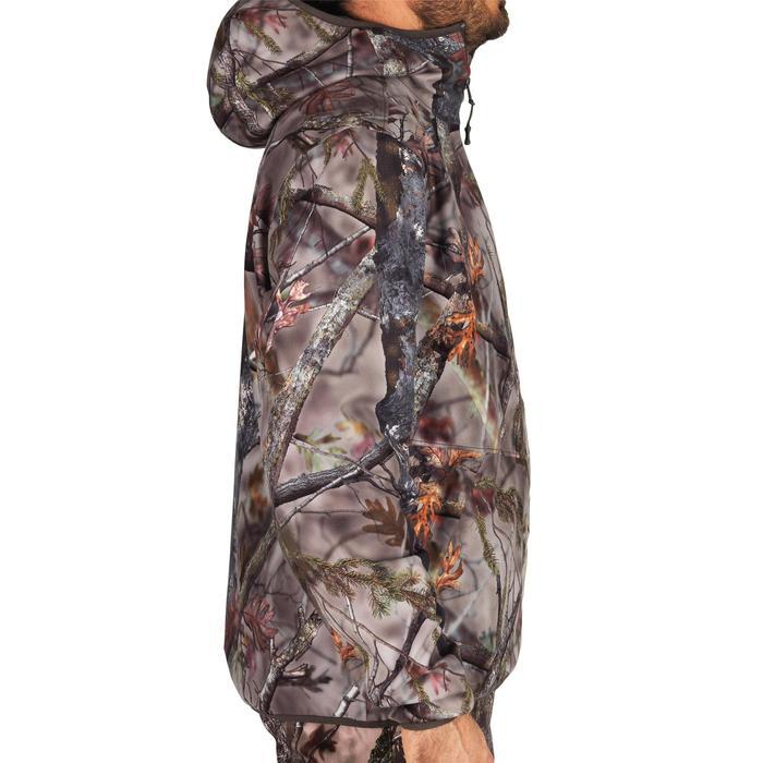 Chaqueta caza Silenciosa Impermeable Light 500 camuflaje BROWN