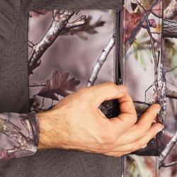 狩獵靜音防水外套500-樹林迷彩