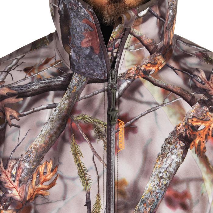 Waterdichte en geluidloze camouflagejas voor de jacht 500 boscamouflage