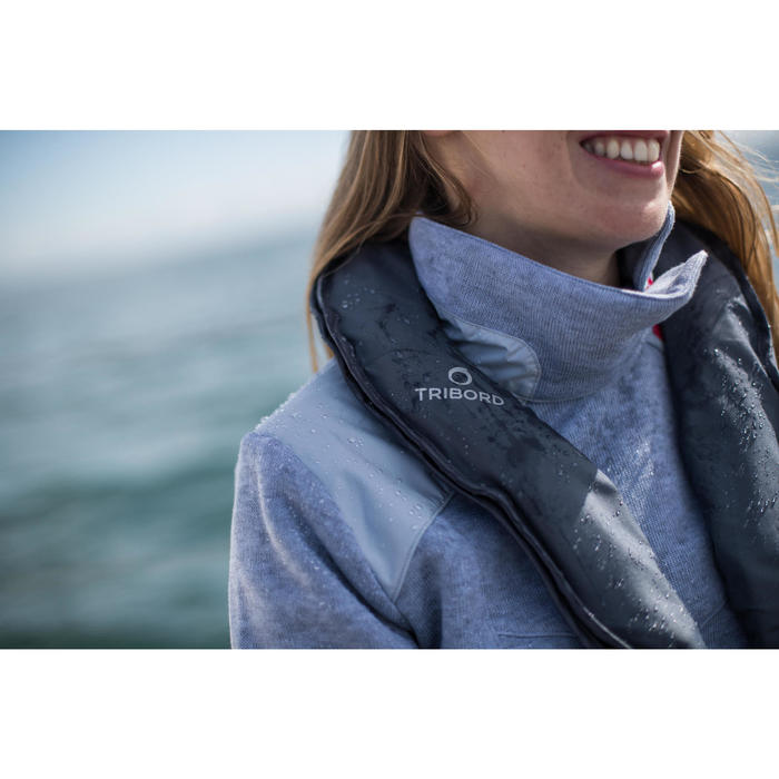 Pull marin femme SAILING 100 Gris
