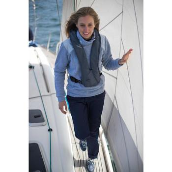Jersey Polar Barco Vela Tribord 500 Mujer Gris Cuello