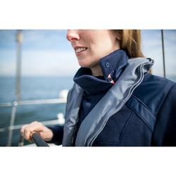 Jersey Polar Barco Vela Tribord 500 Mujer Azul Marino Cuello