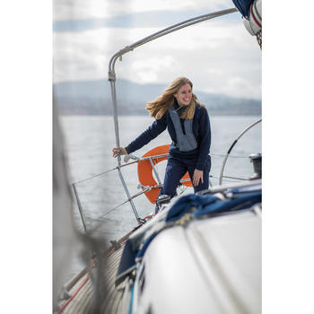 Segelpullover warm Sailing 500 Damen marineblau