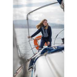 Warme schipperstrui Sailing 100 voor dames marineblauw