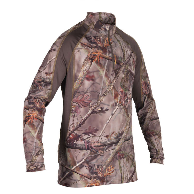 CAMO CLOTHING DRY/WET WEATHER Shooting and Hunting - BREATH T-SHIRT BGS500D CAMO BR SOLOGNAC - Hunting Types