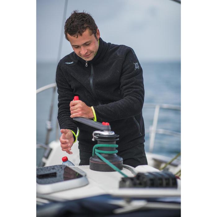 Forro polar de regata RACE negro amarillo para hombre