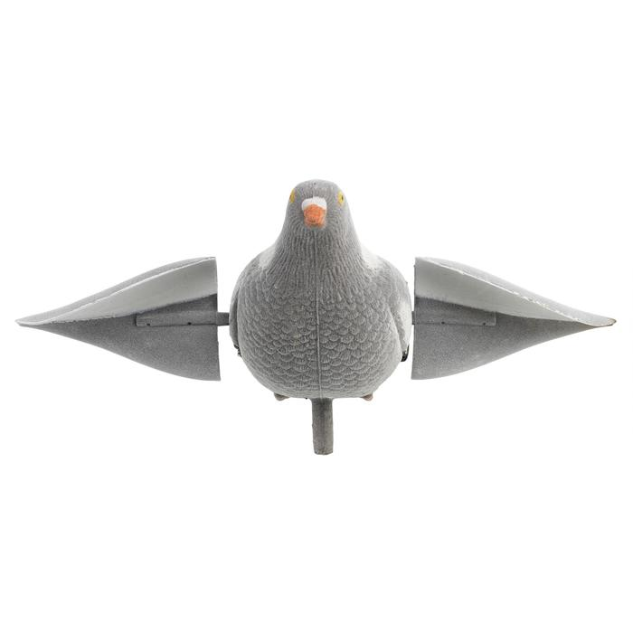 Lokduif met elektrisch draaiende vleugels