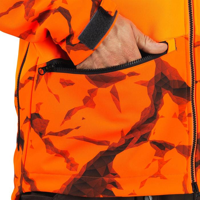 VESTE TRAQUE CHASSE SOFTSHELL 500 FLUO ROCK