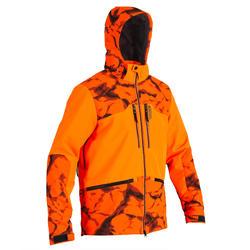 Giacca softshell resistente caccia 500 arancione fluo