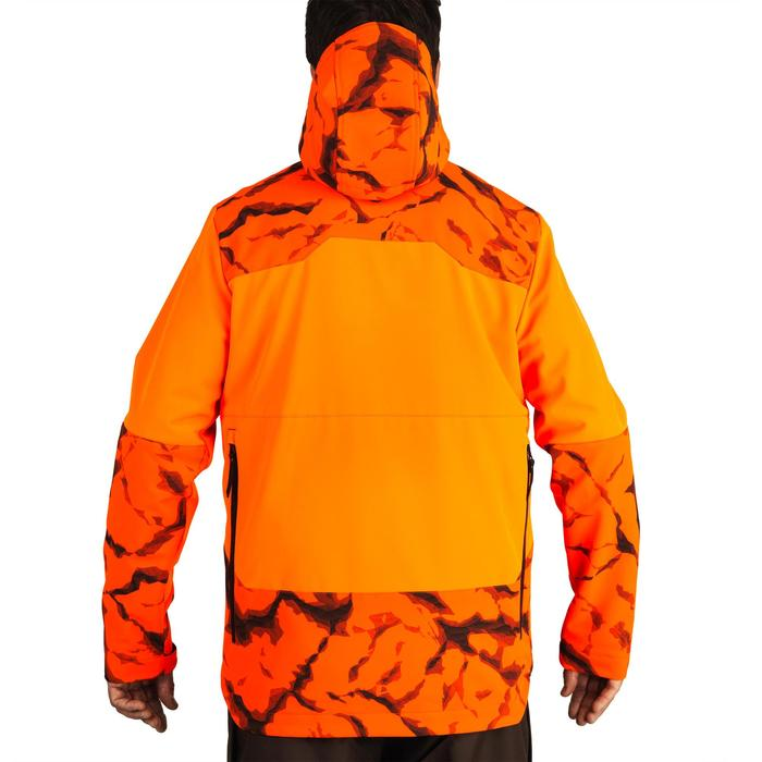 Softshell jas voor de jacht 500 fluo rock
