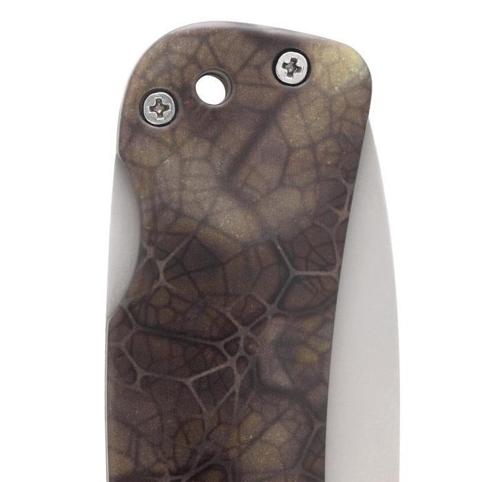 Navaja Caza Solognac AXIS 85 Plegable Camuflaje Sigilo Hoja 8.5 Cm
