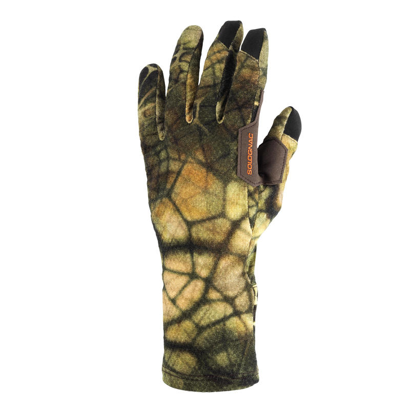 Hunting Warm Breathable Merino Gloves 900 - Furtiv Camouflage