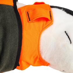 Chaleco Protector Perro Solognac Supertrack 900 Antiperforación Naranja Fluo