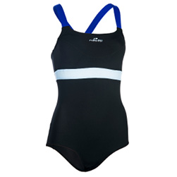 Anna Women's Chlorine-Resistant Aquabiking Swimsuit - Black Blue