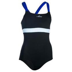 Anna Women's Chlorine-Resistant Aquabiking Swimsuit - Black Blue