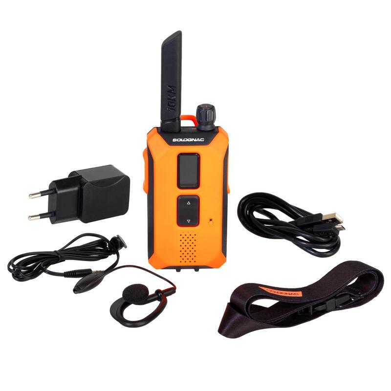 Talkie walkies, cornes de chasse