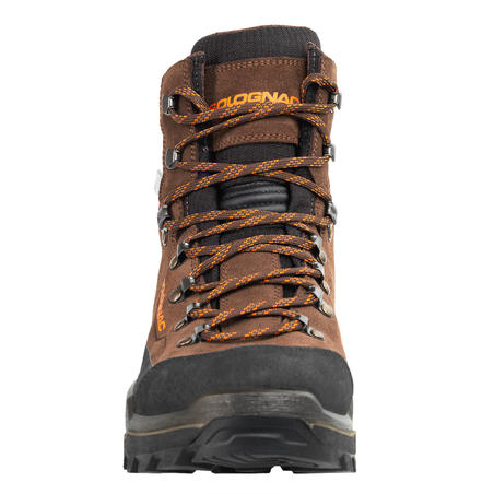 CROSSHUNT 500 WATERPROOF AND HARD-WEARING HUNTING BOOTS BROWN