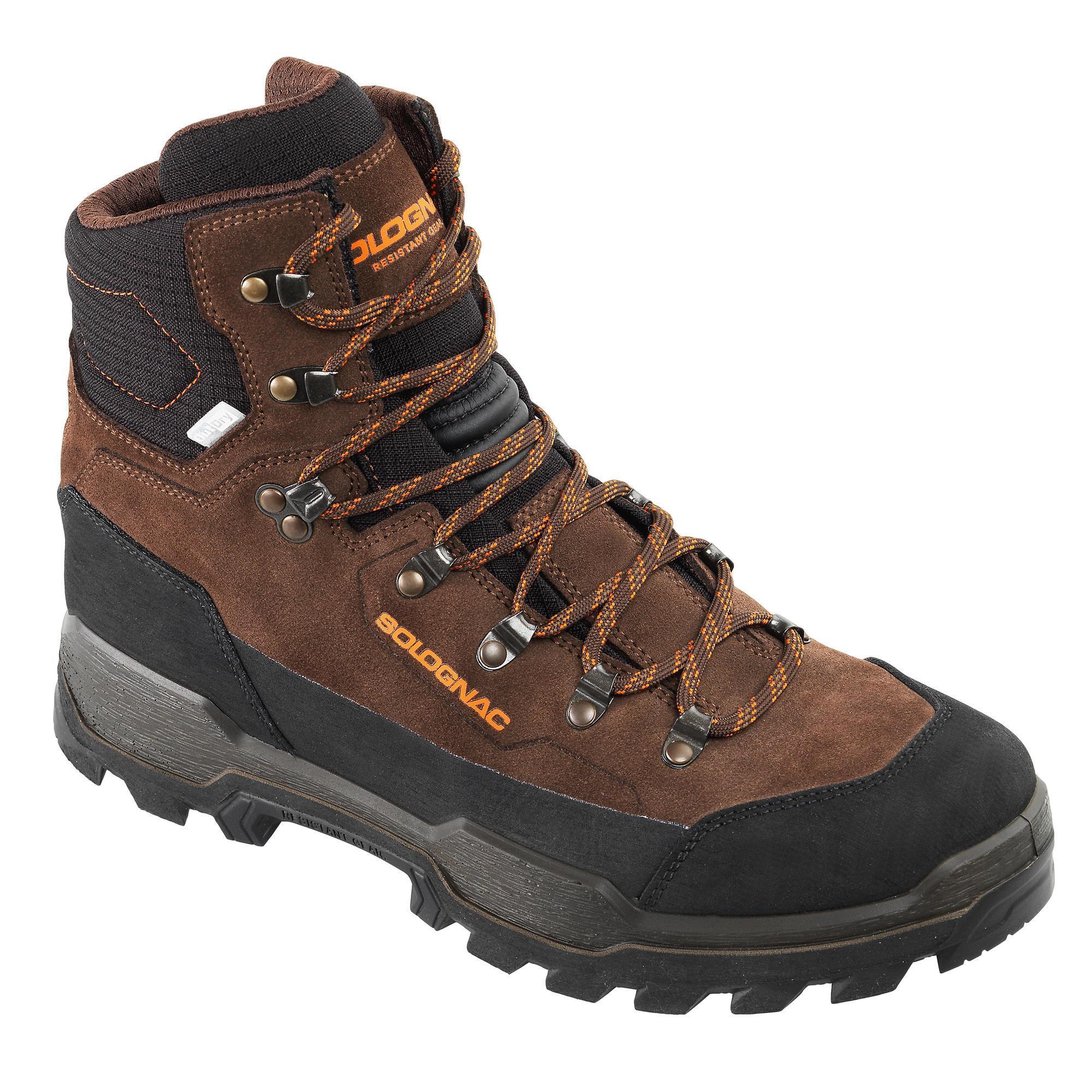 Jagdschuhe SG500W braun wasserdicht atmungsaktiv   Schuhe > Outdoorschuhe > Trekkingschuhe   Leder   Solognac