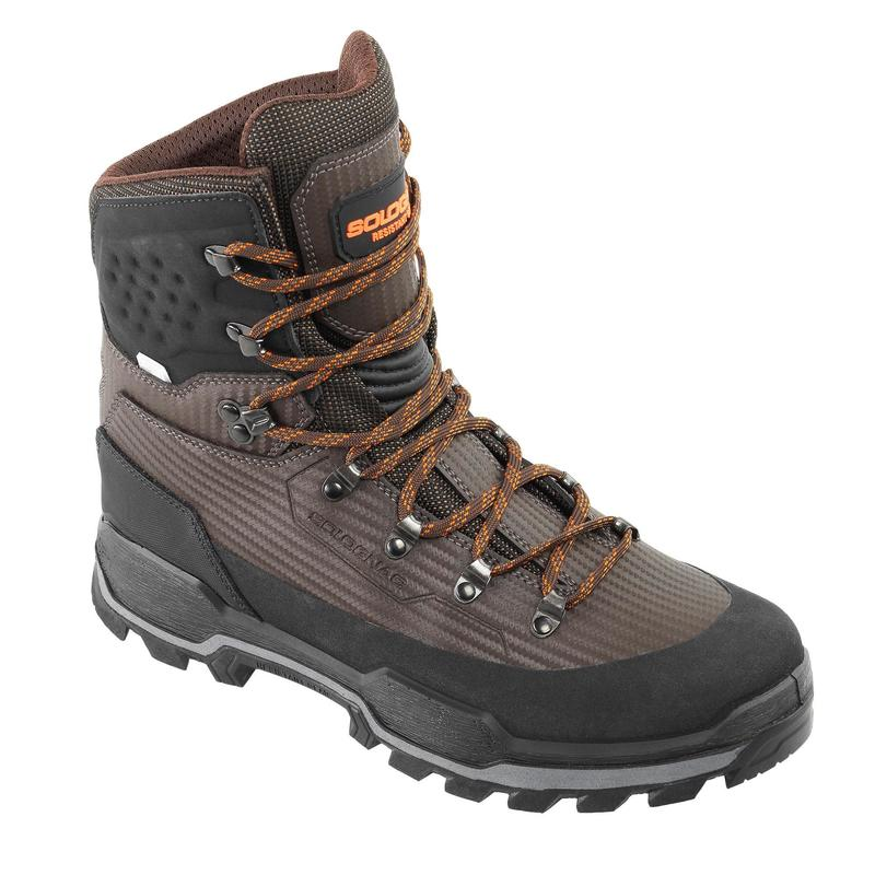 CHAUSSURES CHASSE IMPERMEABLES RESISTANTES MARRON CROSSHUNT 900