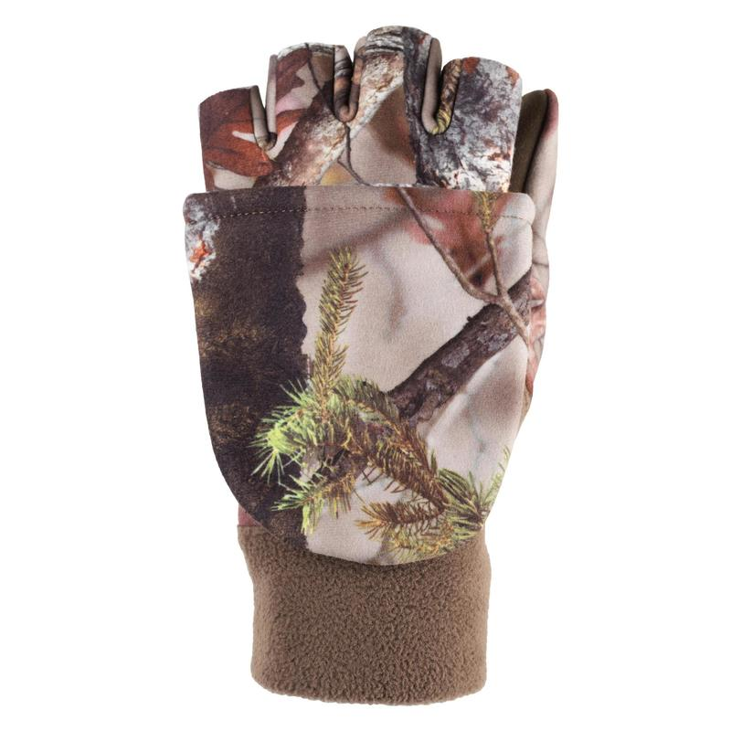 Gants 3 en 1 polyester chaud femmes - 500 camouflage