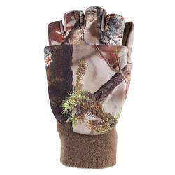 Dameshandschoenen zonder vingers voor de jacht BGP500C camouflage