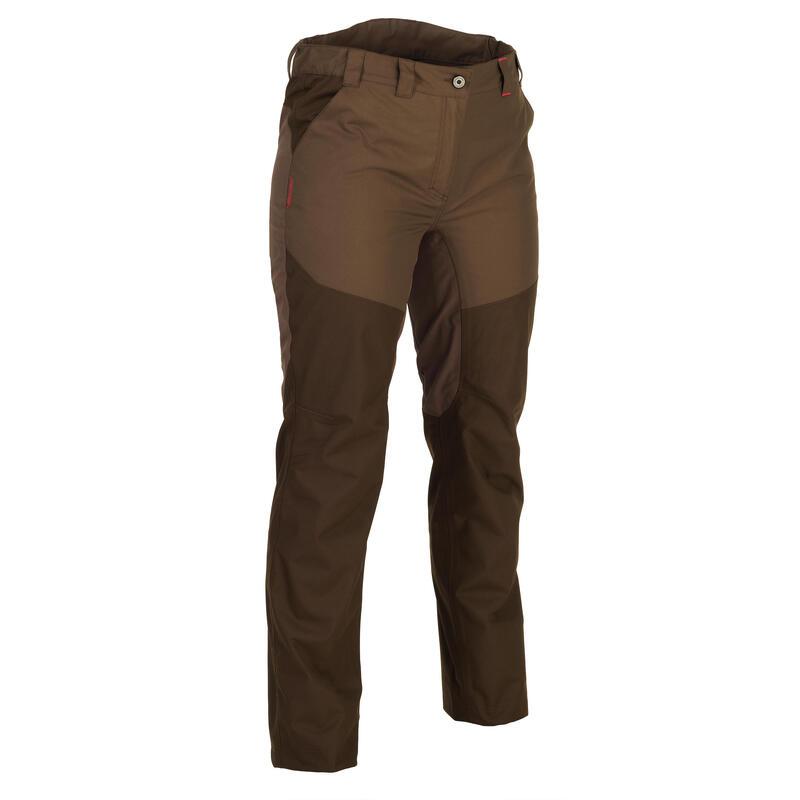 500 Women's Waterproof Hunting Trousers - Brown