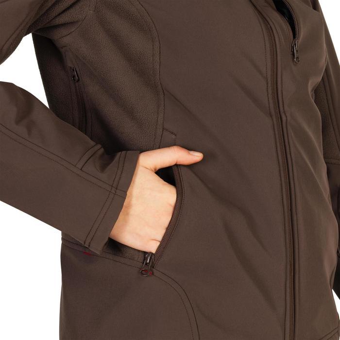 Warme waterafstotende softshell jas voor de jacht dames 500 bruin