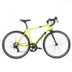 Racefiets Triban 100 geel limited edition