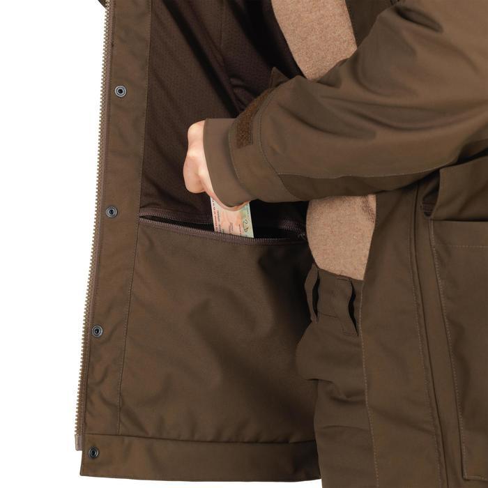 Waterdichte jachtjas voor dames 500 bruin
