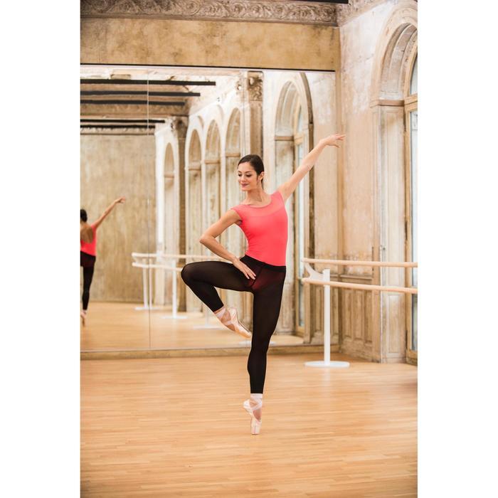 Justaucorps de danse classique manches courtes bi-matière femme - 1492455