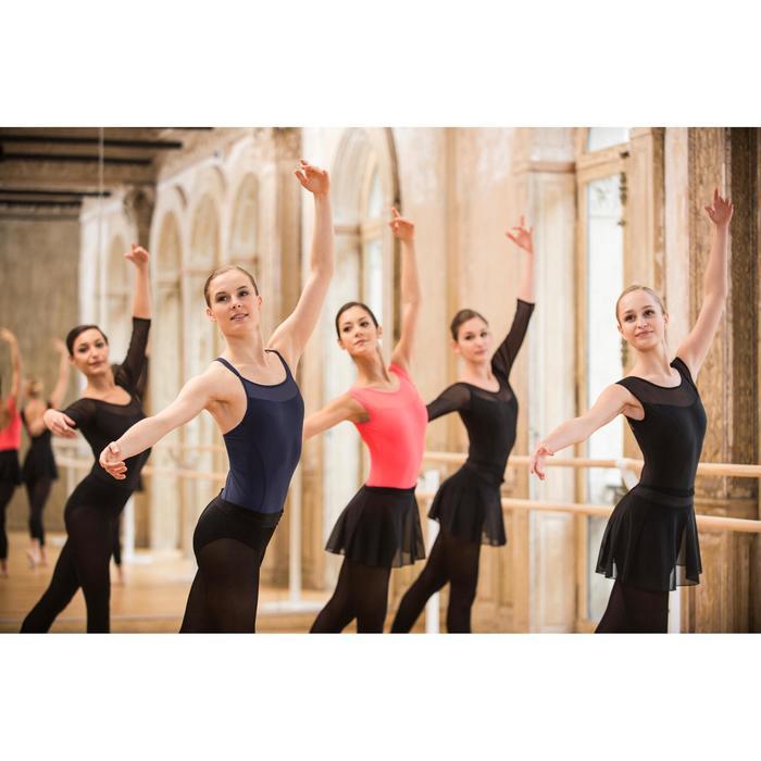 Justaucorps de danse classique à bretelles croisées femme bleu marine - 1492462