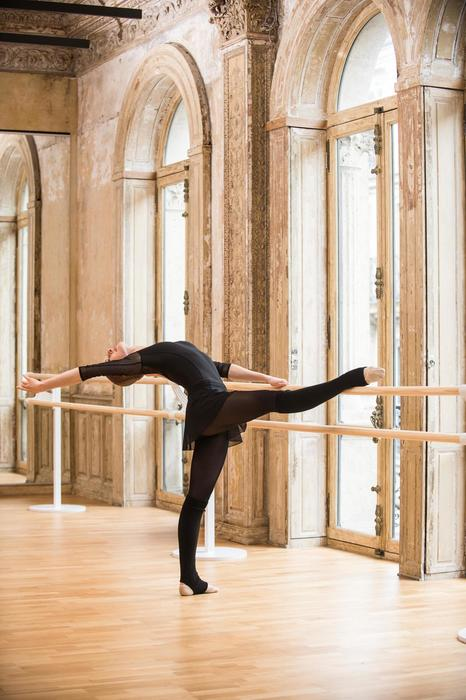 Jupette de danse classique femme en voile noire