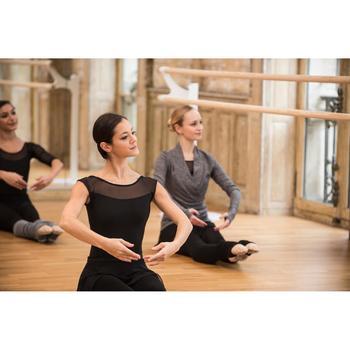 Cache-coeur de danse classique femme gris chiné - 1492499