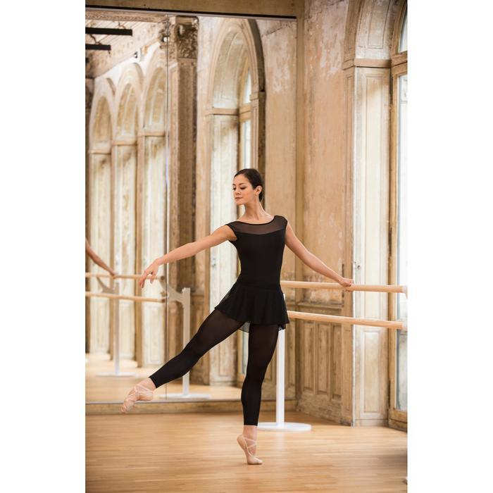 Justaucorps de danse classique manches courtes bi-matière femme - 1492503